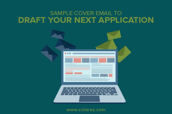 email application, cover email, sample email for cover letter